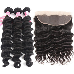 Malaysian Loose Deep Wave Bundles With Frontal