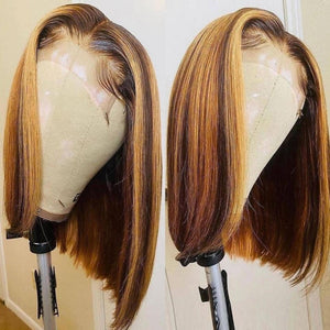 Brazilian Straight Bob Lace Front Human Hair Wig