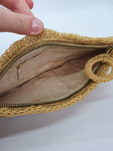 1940s/1950s Gold Beaded Clutch Bag