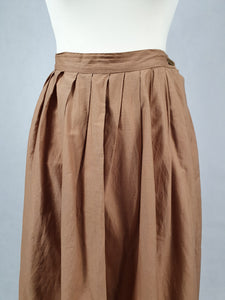 1950s Cappuccino Brown/Beige Gathered Skirt