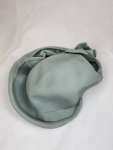 1940s Gorgeous Duck Egg Blue Hat With Ruffles