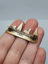 Load image into Gallery viewer, 1940s Silver Tone Boat/Ship Brooch Made By Page Plymouth