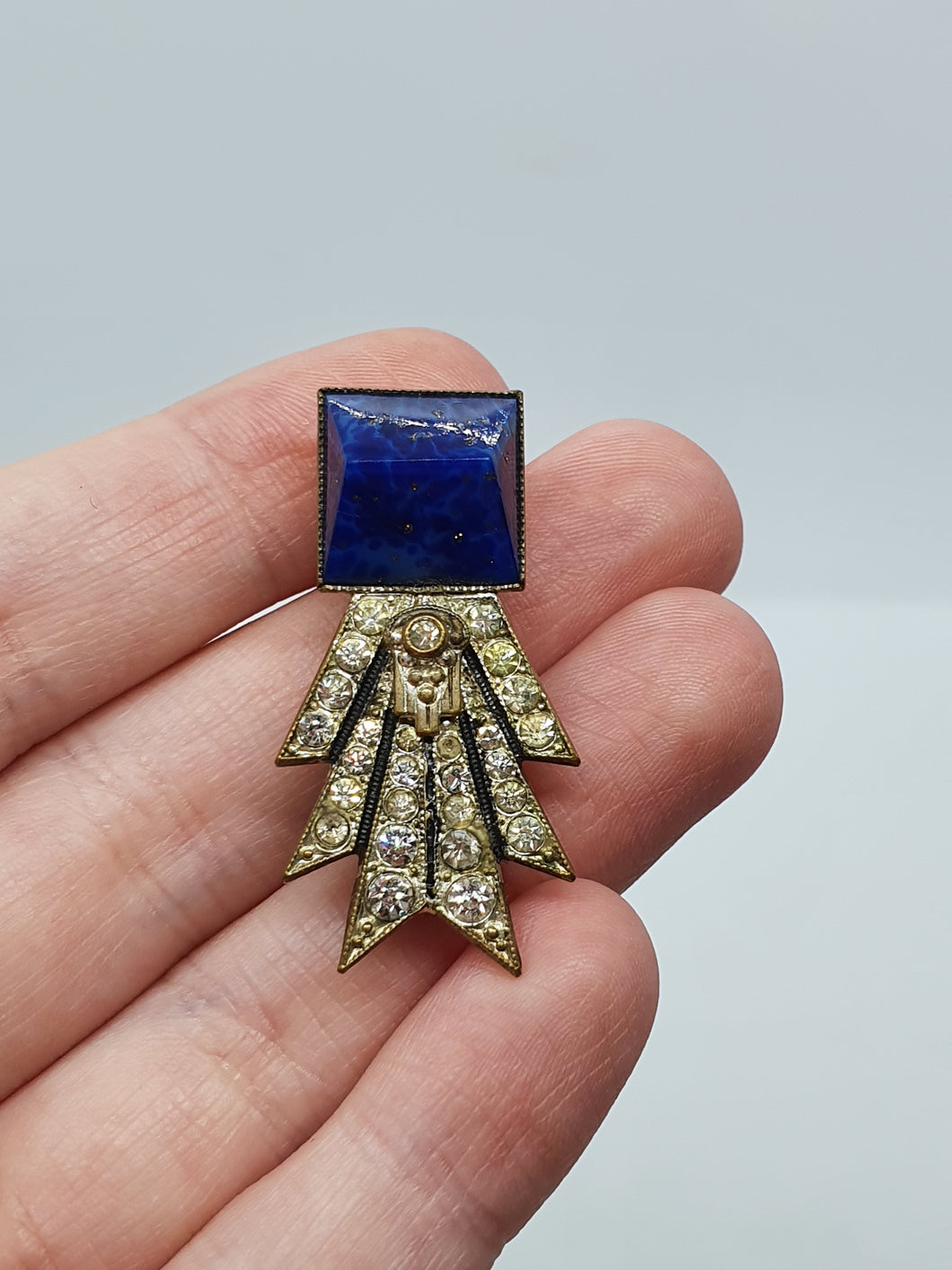 1930s Art Deco Small Dress Clip