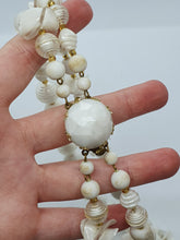 Load image into Gallery viewer, 1950s German White Plastic Double Strand Necklace