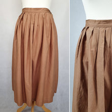 Load image into Gallery viewer, 1950s Cappuccino Brown/Beige Gathered Skirt