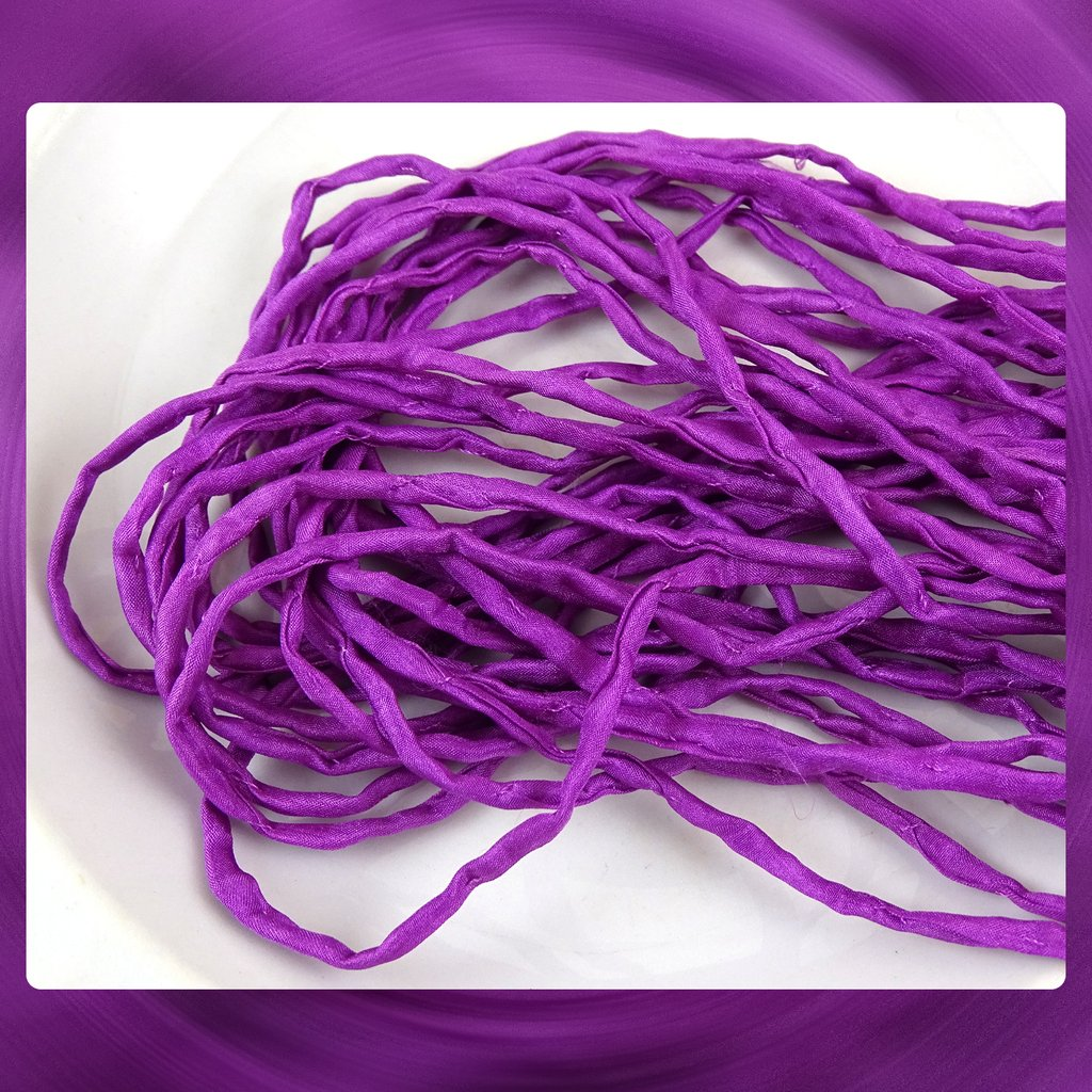 7 NEW Colors! Hand Dyed Silk Cords