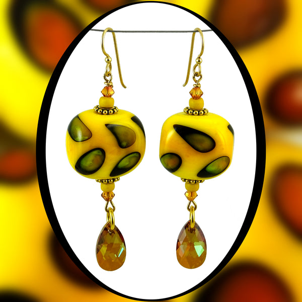 Earrings Featuring Our Own Handmade Beads