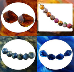 Italian Resin Beads - Made in Florence