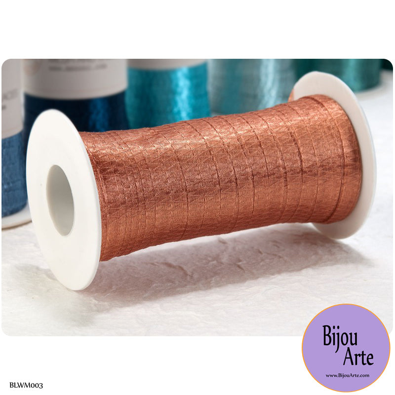 Italian Tubular Wire Mesh Ribbon - Copper (6mm)