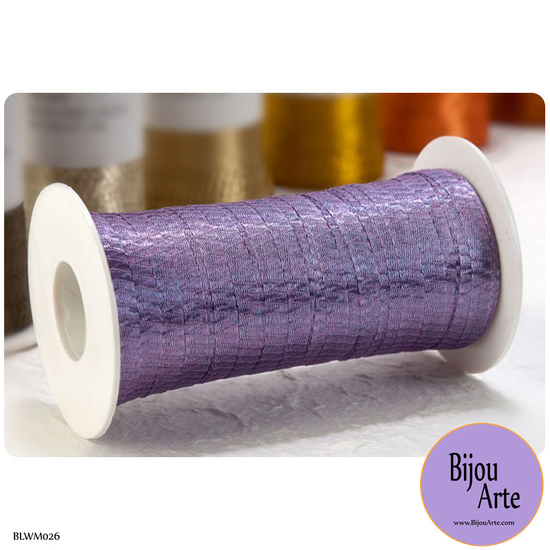 Italian Tubular Wire Mesh Ribbon - Lilac (6mm)
