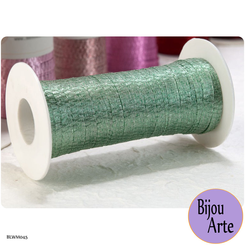 Italian Tubular Wire Mesh Ribbon - Light Sage (6mm)