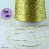Italian Wire Mesh Ribbon 10 Meter Spool: Antique Gold (Width: 1mm)
