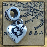 "Sterling Silver ""Pandora-style"" Astrological Charm: PISCES"