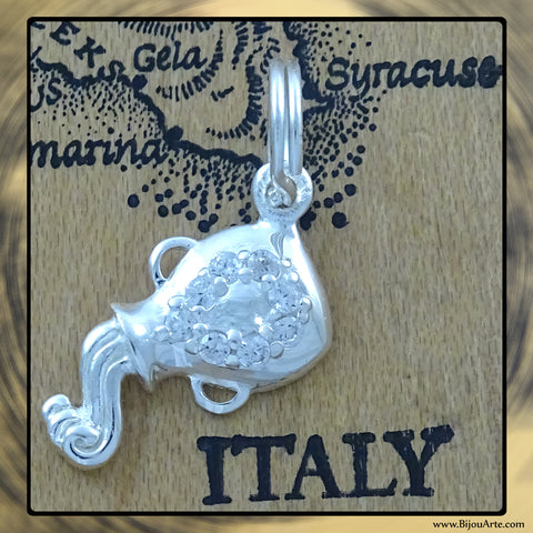 Sterling Silver Astrological Charm: AQUARIUS