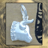 Sterling Silver Astrological Charm: TAURUS