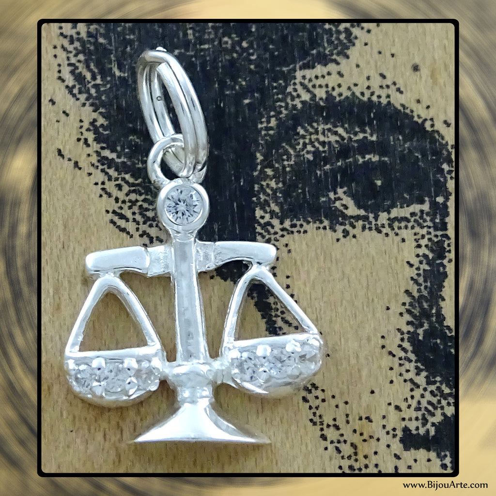 Sterling Silver Astrological Charm: LIBRA