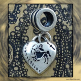 "Sterling Silver ""Pandora-style"" Astrological Charm: SAGITTARIUS"