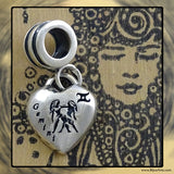 "Sterling Silver ""Pandora-style"" Astrological Charm: GEMINI"