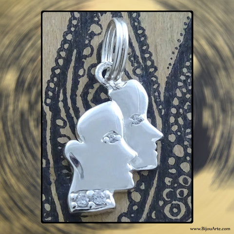 Sterling Silver Astrological Charm: GEMINI