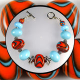 Artisan Bracelet Featuring Our Own Handmade Lampwork Beads