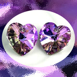 Swarovski Heart. Art. 6202, Vitrail Lt.: Pack Of 2