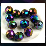 Czech Glass Beads: Vintage Purple Iris. Faceted Round, 10mm (Bag of 12)