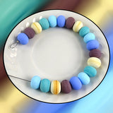 Handmade Glass Bead Set: Matte Spacer Beads in 5 Colors (20 Lampwork Beads)