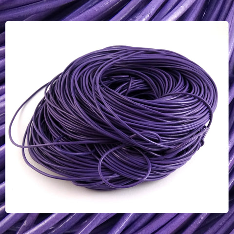 Quality European Leather Cord: Purple  (3 Meters / 3.28 Yards)