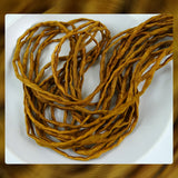 Hand Dyed Silk Cords: Autumn Gold - Sold By The Individual Cord (Width: 2-3mm)