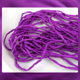 Hand Dyed Silk Cords: Dark Fuschia / Purple - Sold By The Meter (Width: 2-3mm)