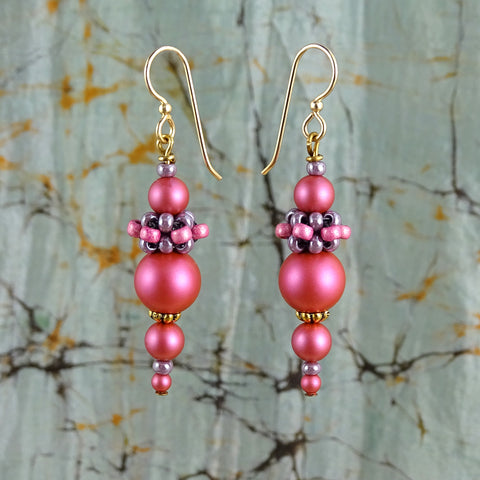 Bombay Bazaar Earrings (With Hand-Woven Beaded Beads)