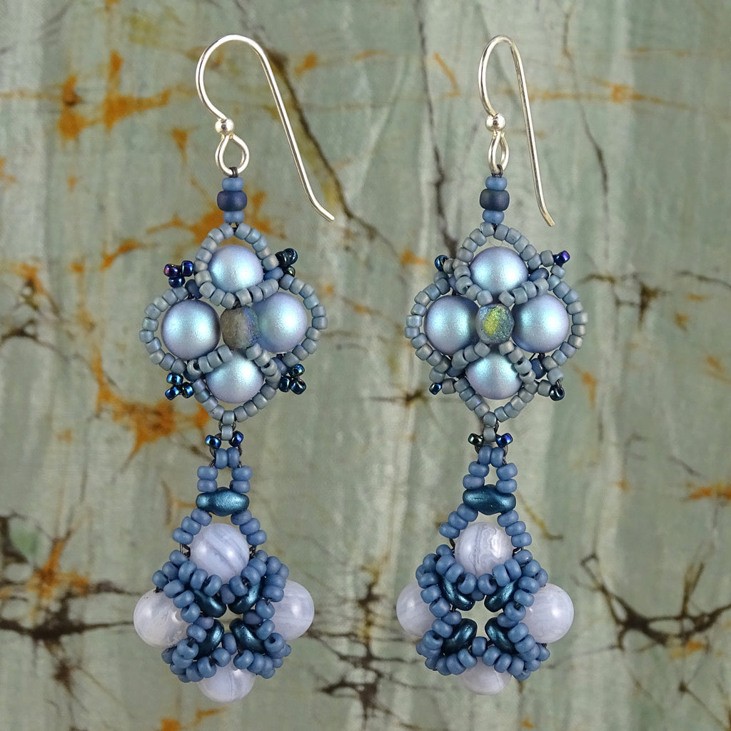 Blue Ice Earrings