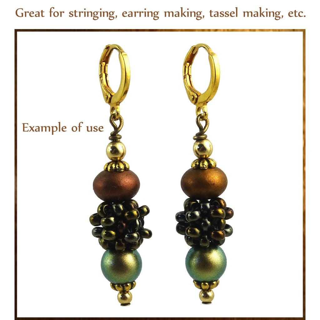 """Berry Beads"": Hand-Woven Beaded Beads - Iridescent Bronze"