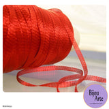 Italian Tubular Wire Mesh Ribbon - Scarlet (6mm)