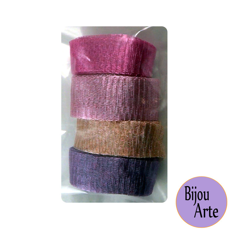 Wire Mesh Ribbon Color Pack (20mm): Spring's Blush