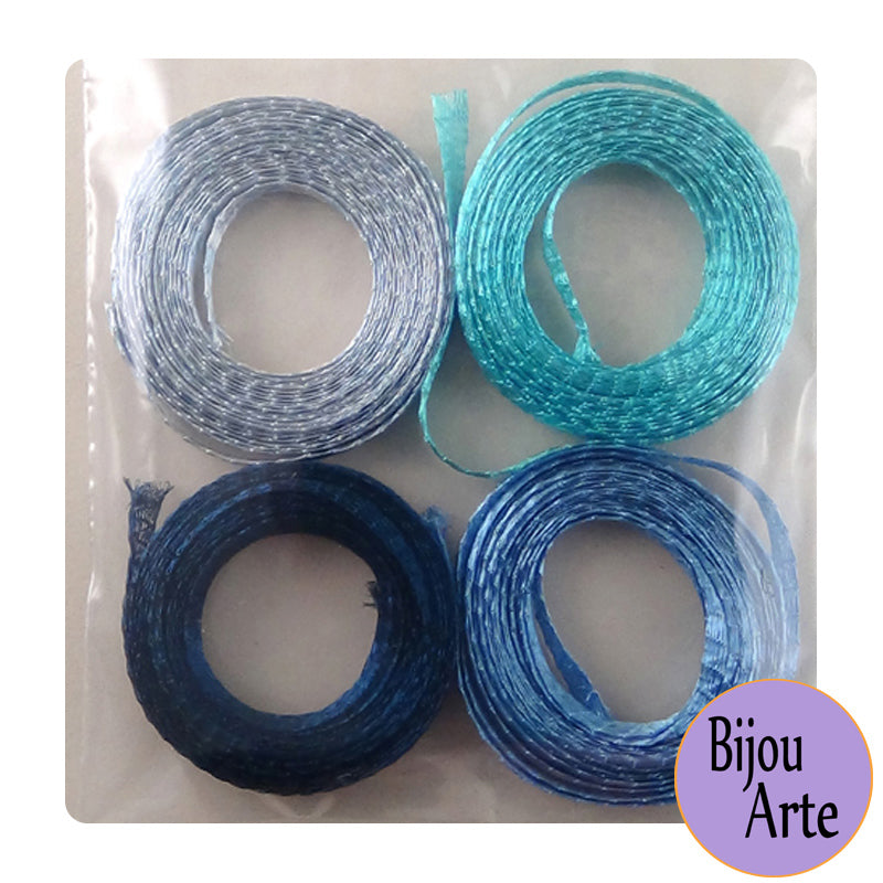 Wire Mesh Ribbon Color Pack (6mm): I Got The Blues