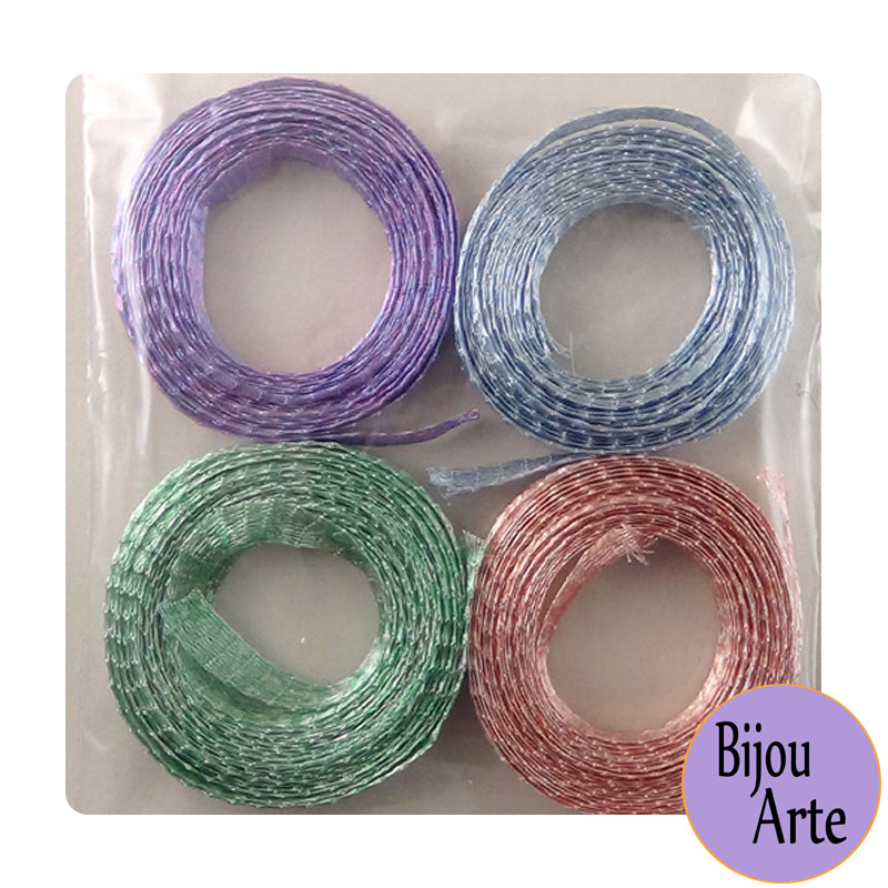 "Wire Mesh Ribbon Color Pack (6mm): ""Summer Fun"""