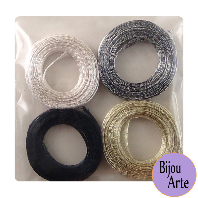 "Wire Mesh Ribbon Color Pack (6mm): ""Neutral Zone"""
