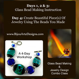 Glass Bead Making & Jewelry Design: 4-Day Combo Workshop