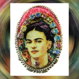 Hand Crafted Brooch / Pendant: Frida Kahlo