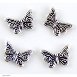 "High quality Zinc alloy ""Zamak"" butterfly beads with silver-plated finish.  Each fish measures 17mm end-to-end."