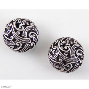 """Zamak"" Filigree Beads: Pack of 2"