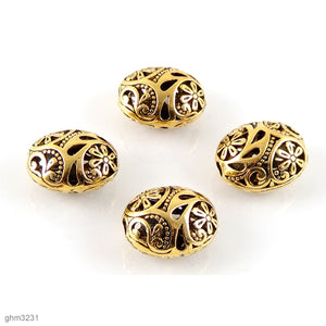 """Zamak"" Filigree Beads: Pack of 4"