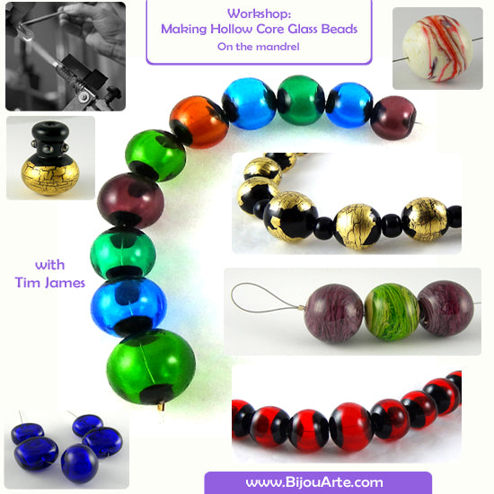 Learn To Make Hollow Core Glass Beads! 4-hour Advanced Course