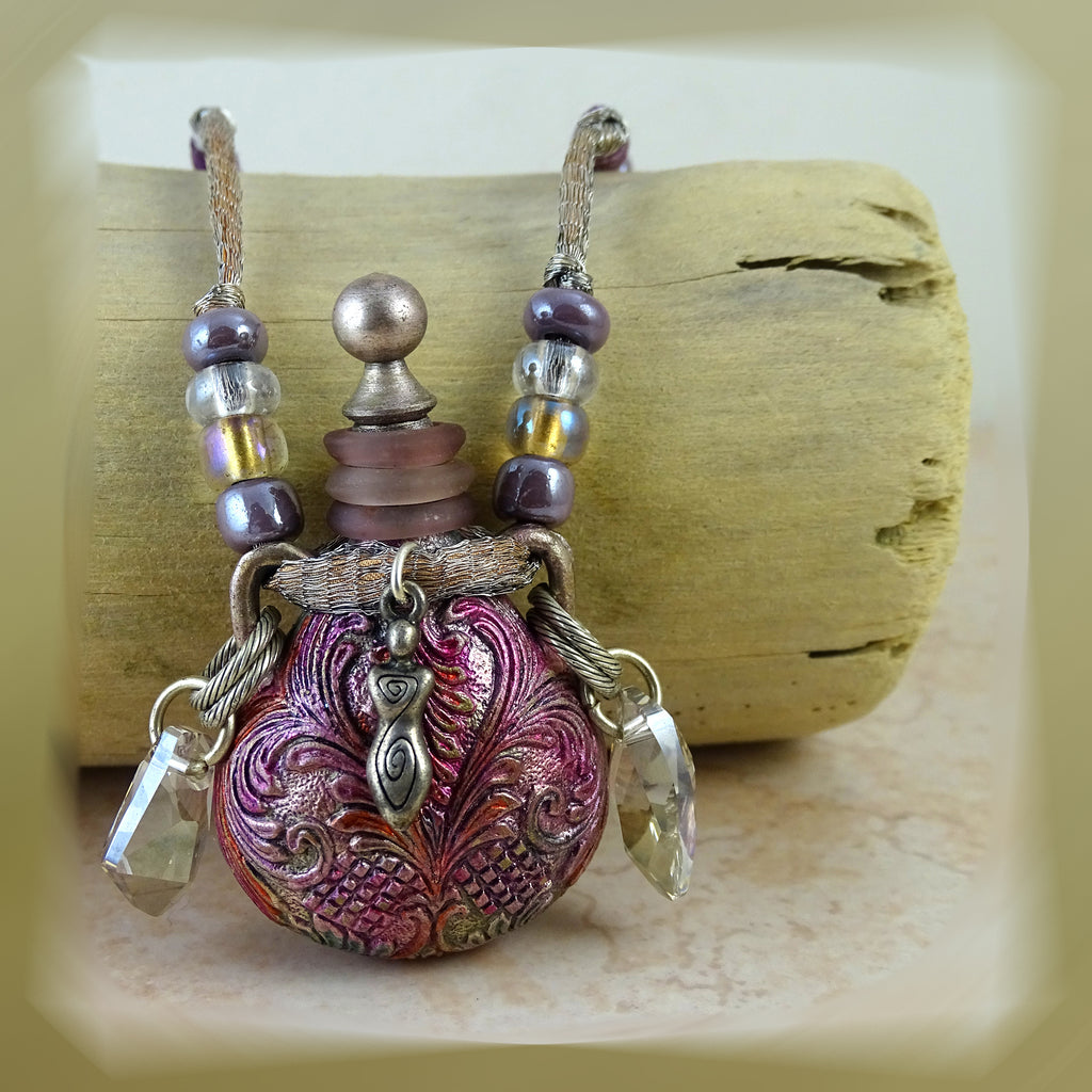 "Violet Night ""Tincture Vessel"" Necklace"