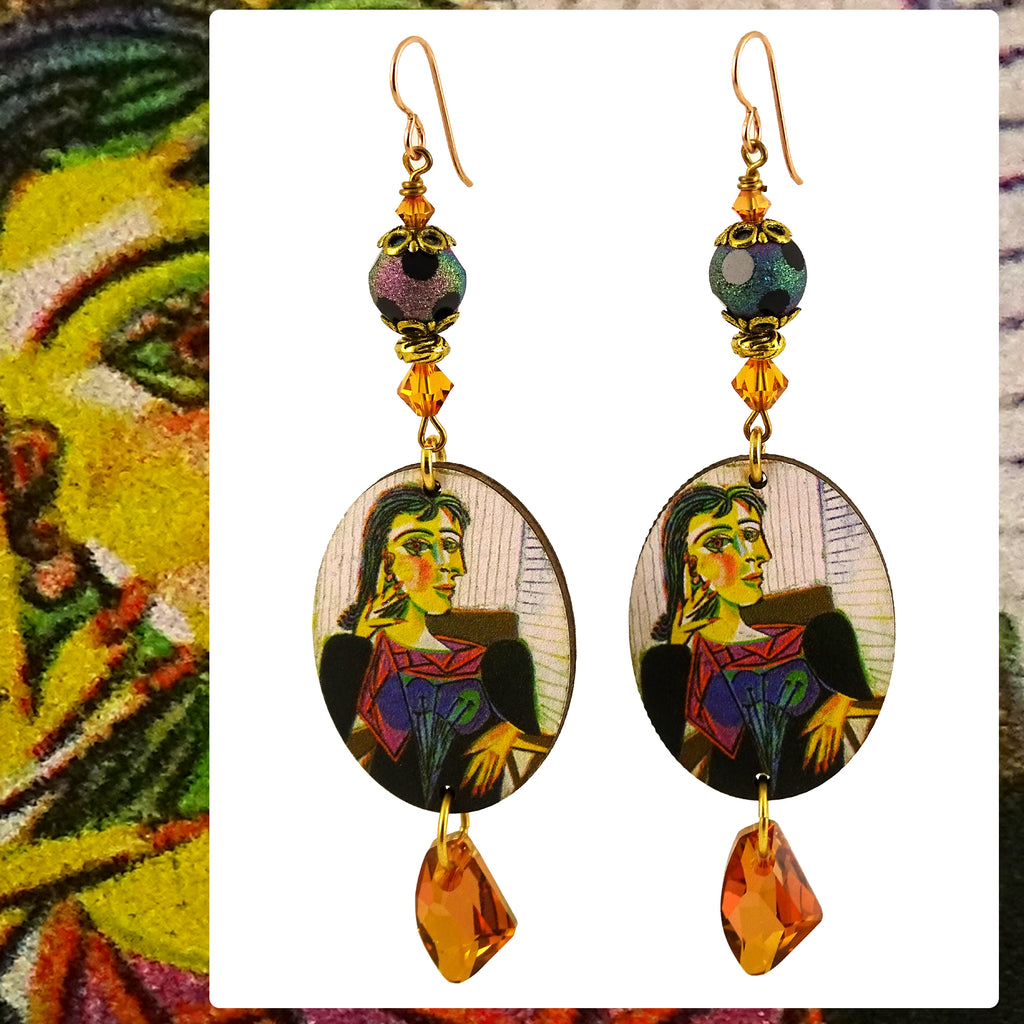 "Picasso ""Cubist"" Earrings"