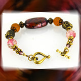 Buddha Bracelet with Handmade Focal Bead