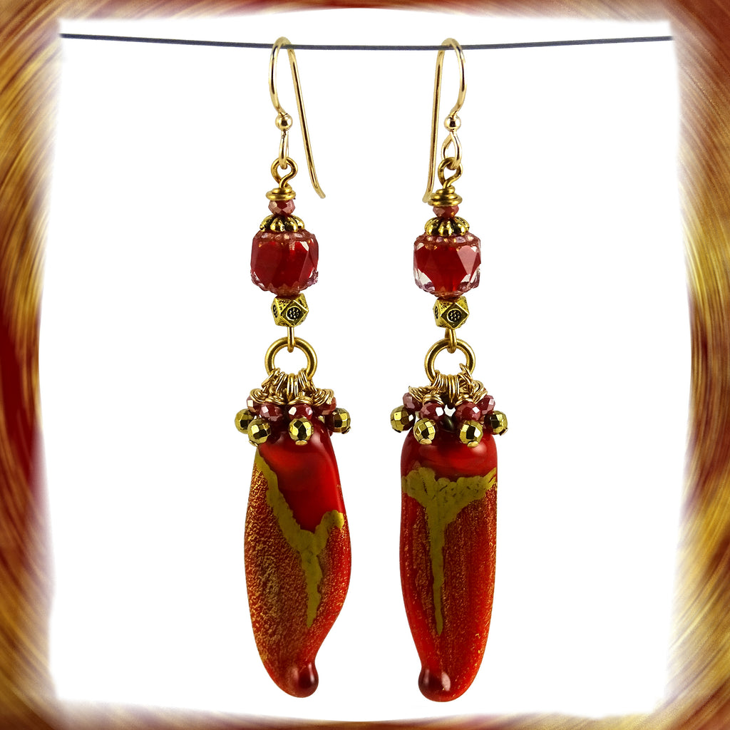 Sassy Chili Pepper Earrings