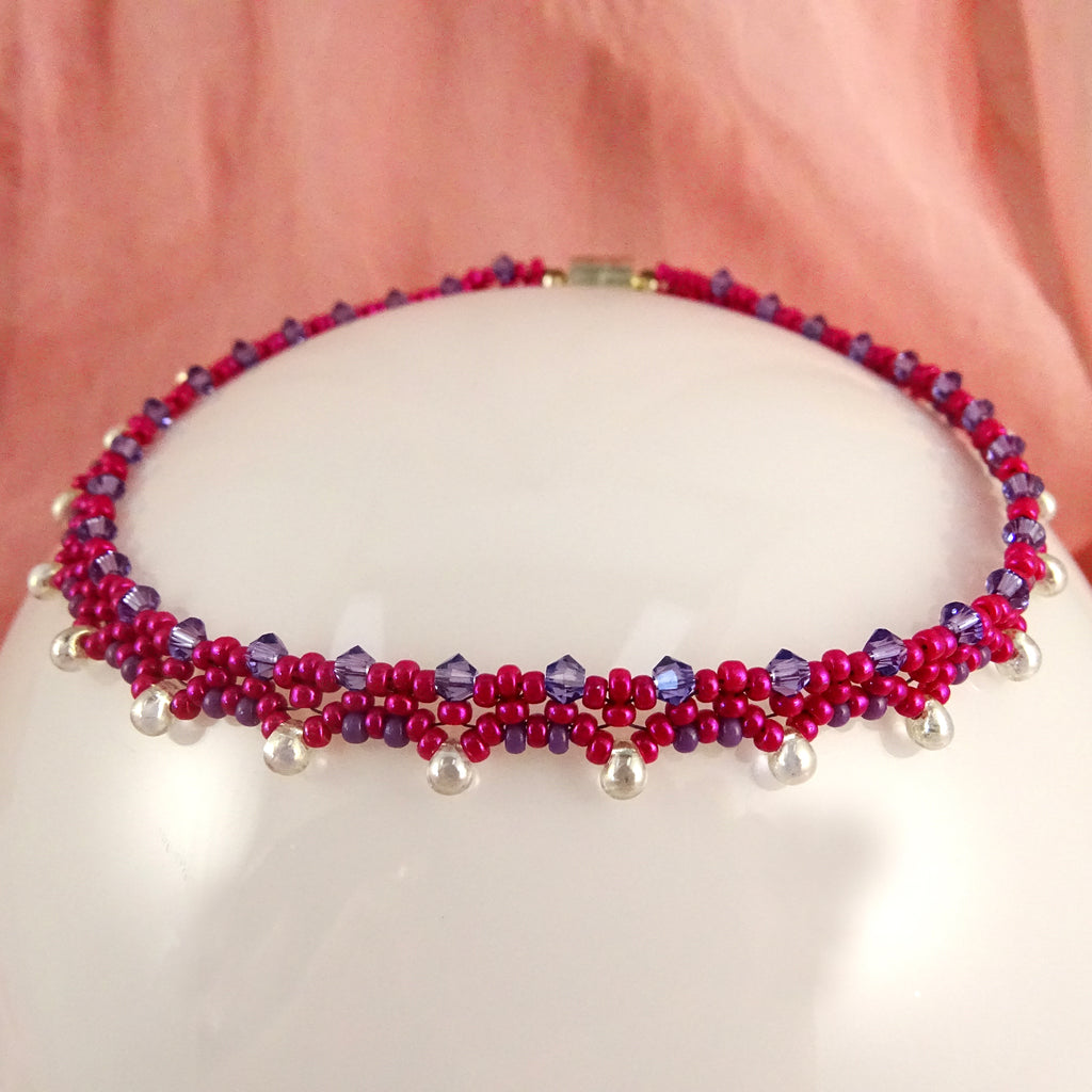 The Princess Anklet: Hot Pink/Purple