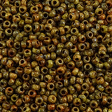 Miyuki Seed Bead 8/0: Opaque Picasso Brown (10 Grams)